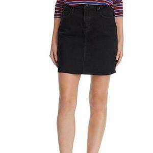 Hudson Jeans Lulu Denim Mini Skirt in Black